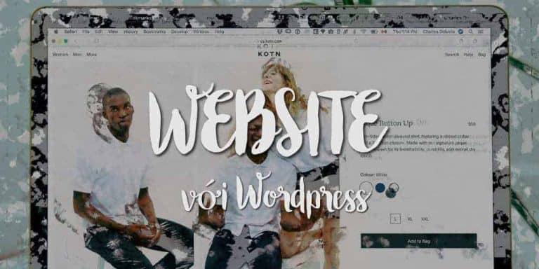 tạo website bằng wordpress