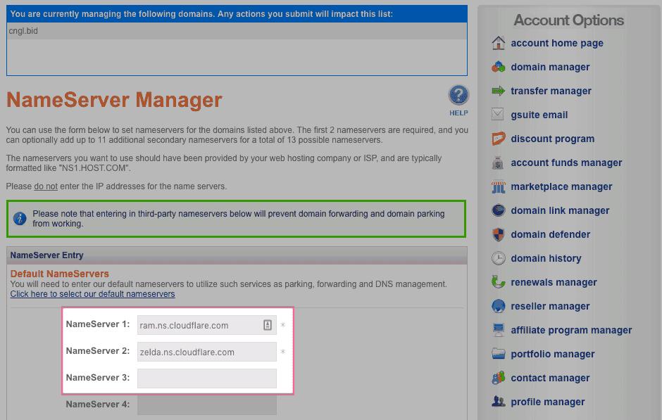thêm NamerServer vào
