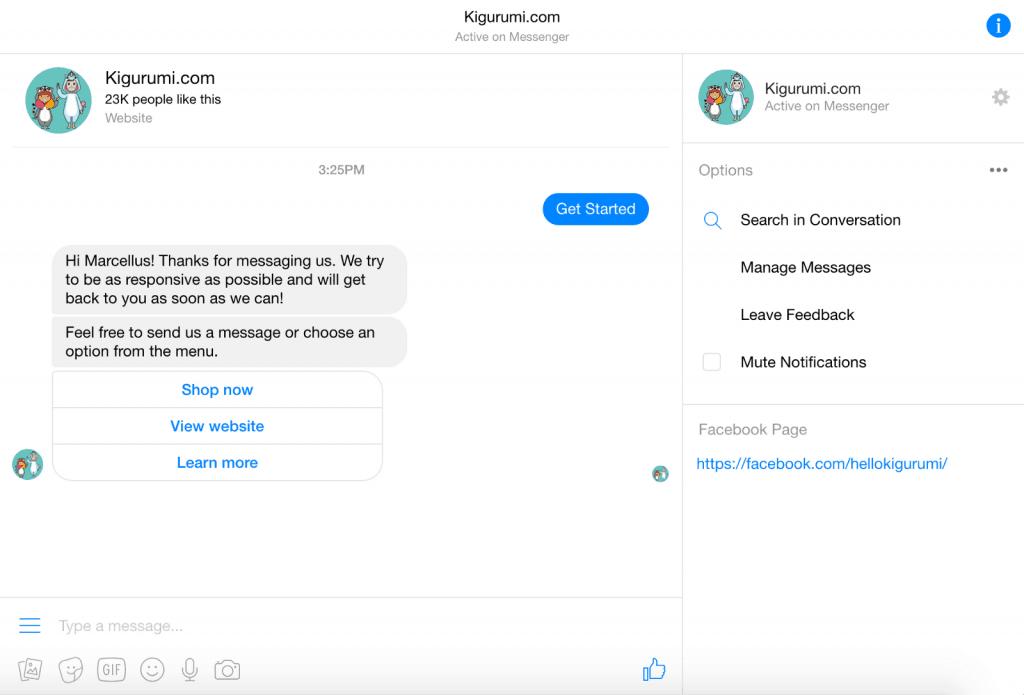 Facebook Messenger Tuong Tac