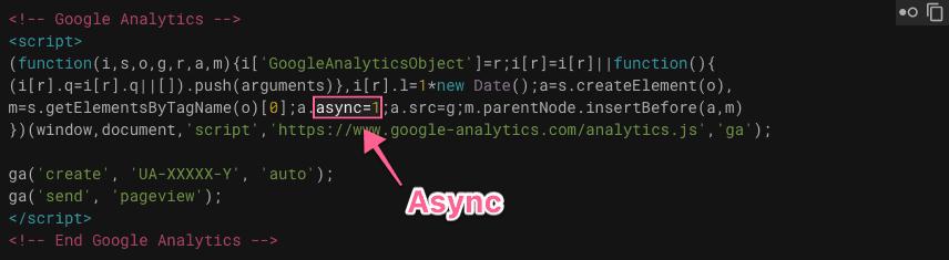 Mã google analytics async