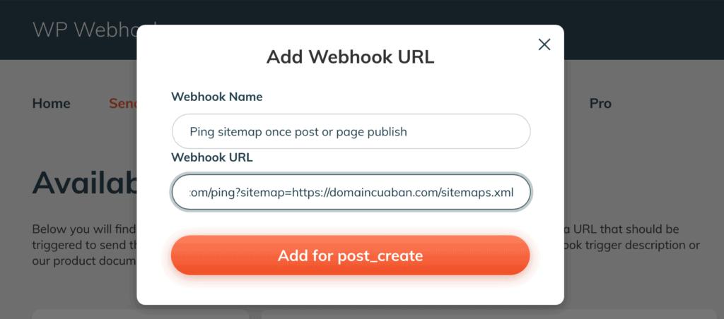 Thêm Webhook URL